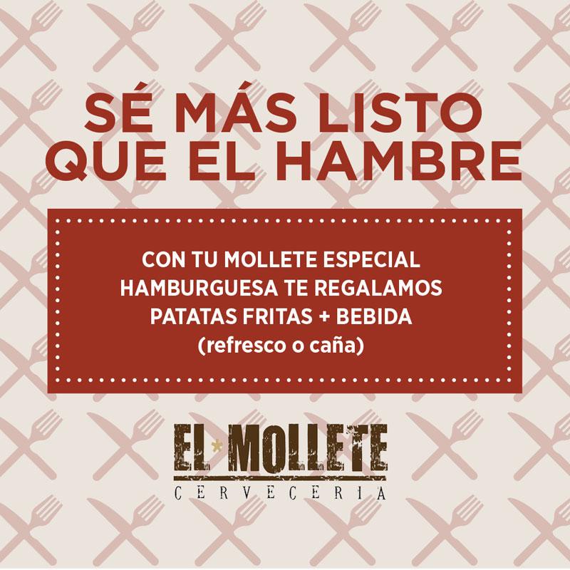 Patatas fritas + bebida gratis en El Mollete