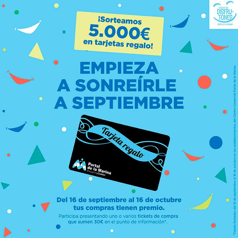 ¡Sorteamos 5.000 € en tarjetas regalo!